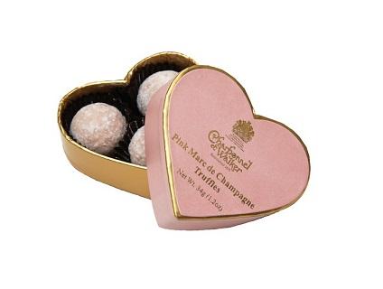 Charbonnel et Walker Mini Pink Heart Champagne Truffles