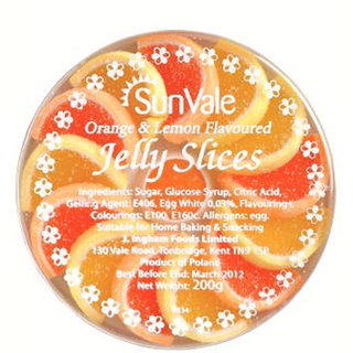 BB: 31/03/21 Sunvale Orange and Lemon Jelly Slices 100g