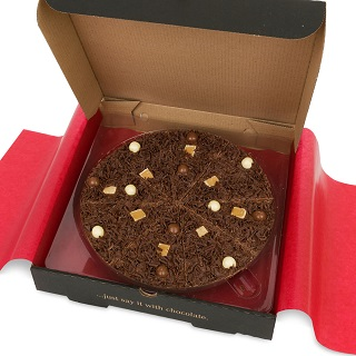 Heavenly Honeycomb Chocolate Pizza By The Gourmet Chocolate
