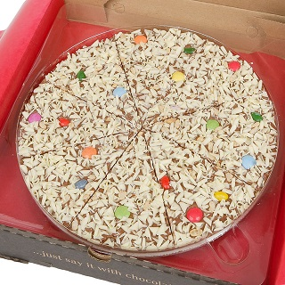 "Jelly Bean Jumble Chocolate 7"" Pizza"