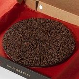 "Double Dark and Delicious Chocolate 7"" Pizza"