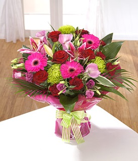 Stunning Hand-tied Bouquet of Vibrant Flowers