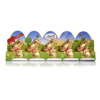 Lindt Mini Milk Chocolate Gold Bunnies