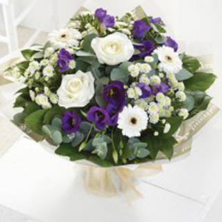 Stunning Bouquet of Blue and White Blooms