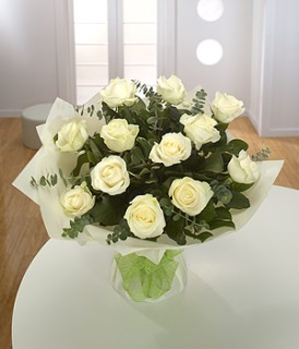 Classic Cream  Roses Hand-Tied Arrangement