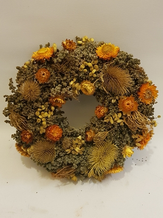 Natural Dried Honey Wreath