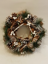 Natural Snowy Christmas Wreath