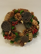 Natural Pine and Lotus Wreath