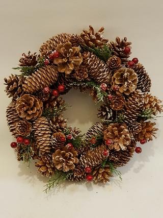 Woodland Snowy Christmas Wreath