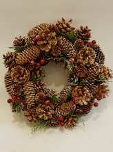 Woodland Snowy Christmas Wreath