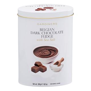 Gardiner's Belgian Chocolate with Sea Salt Fudge Tin