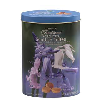 Gardiner's Scottish Assorted Toffees Bluebells Tin
