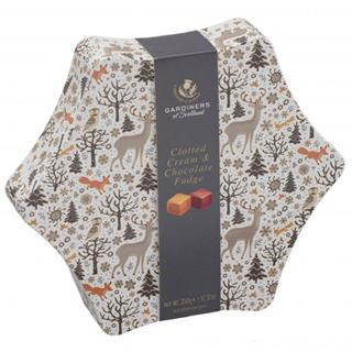 Gardiner's Christmas Clotted Cream & Chocolate Fudge Star Tin