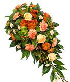 Traditional Orange Roses and Carnations Spray