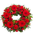 Red Gerbera Wreath