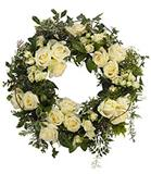 Cream Rose Floral Wreath