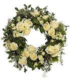 Cream Rose Floral Wreath