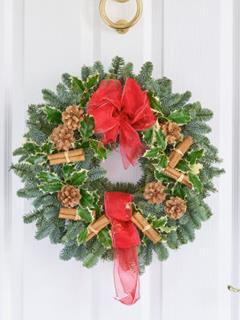 Traditional Festive Door Wreath
