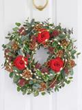 Festive Scarlet Door Wreath