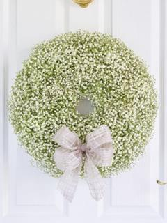 Christmas Gypsophila Door Wreath