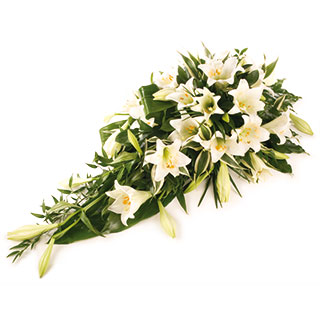 image White wedding bridal arrangement with bbc