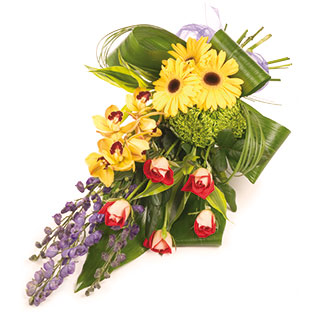 Flower Delivery Edinburgh on Flowers   Funeral Flowers   Modern Tied Funeral Sheaf Of Flowers