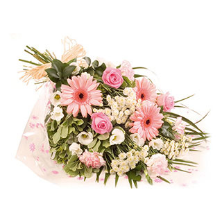 pink candy bouquet of flowers hand tied bouquet bouquets delivered in uk the harvest garden. Black Bedroom Furniture Sets. Home Design Ideas