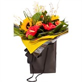 Vibrant and Showy hand-tied arrangement|flowers by The Harvest Garden|deliver flowers in UK