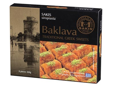 Sakis Baklava Traditional Greek Sweets