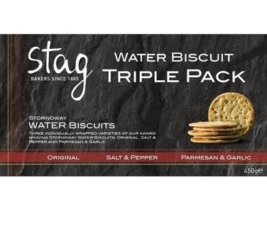 Stag Bakeries Stornoway Water Biscuit Triple Pack