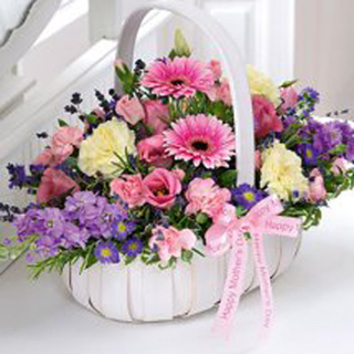 Mother's Day Pastel Basket Arrangement