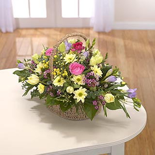 Beautiful Spring Basket Arrangement