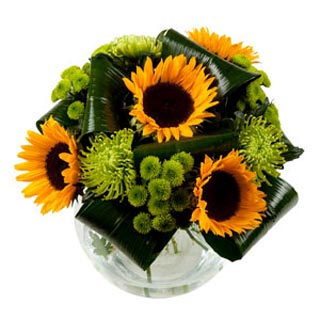 "Hand-Tied Bouquet of ""Sunshine"" Flowers"