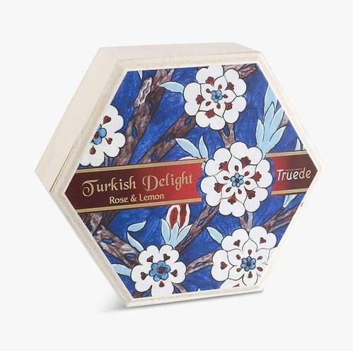 Truede Rose & Lemon Turkish Delight Wooden Box