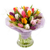 Spring Time Tulip Hand-Tied Bouquet