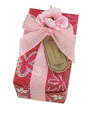 Van Roy Belgian Chocolates Pink Flower Ballotin