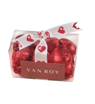 Van Roy Belgian Chocolate Red Love Hearts Ballotin