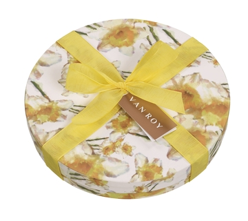 Van Roy Belgian Truffles Floral Round Box