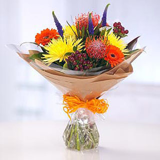 Virgo Autumnal Hand-tied Bouquet
