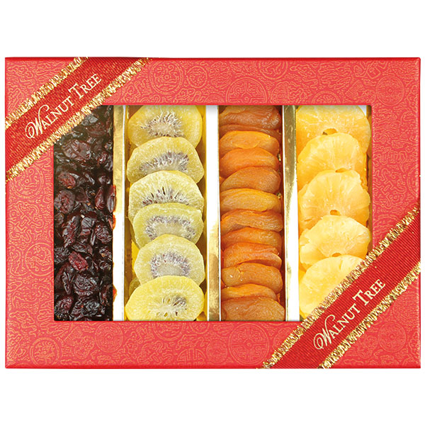Walnut Tree Assorted Dried Fruit Stripe Box