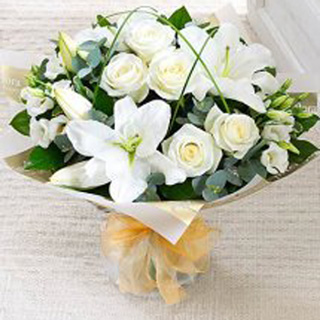 Arctic White Hand-Tied Bouquet